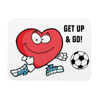 Playing Sports is Good for Your Heart Magnet