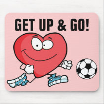 Playing Sports is Good for Your Heart Mouse Pad