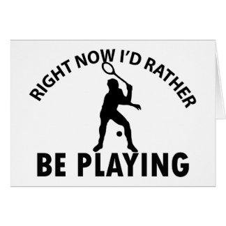 Playing  squash card