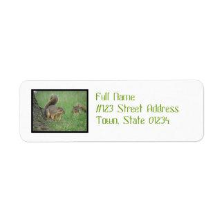 Playing Squirrels Return Address Label