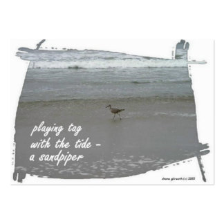 PLAYING TAG SANDPIPER ACEO HAIKU ART TRADING CARD- BUSINESS CARD TEMPLATES