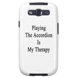 Playing The Accordion Is My Therapy Samsung Galaxy S3 Covers