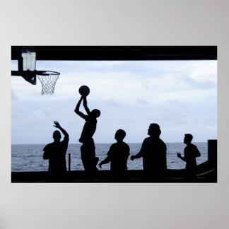 Playing the Basketball Poster