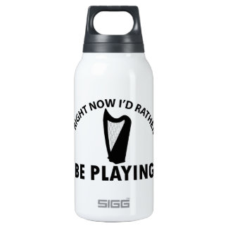Playing the celtic harp 10 oz insulated SIGG thermos water bottle