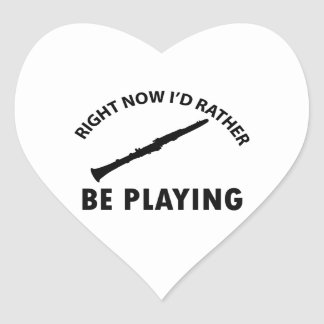 Playing the clarinet heart sticker