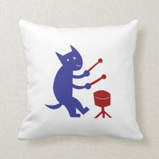 Playing The Drums Throw Pillow