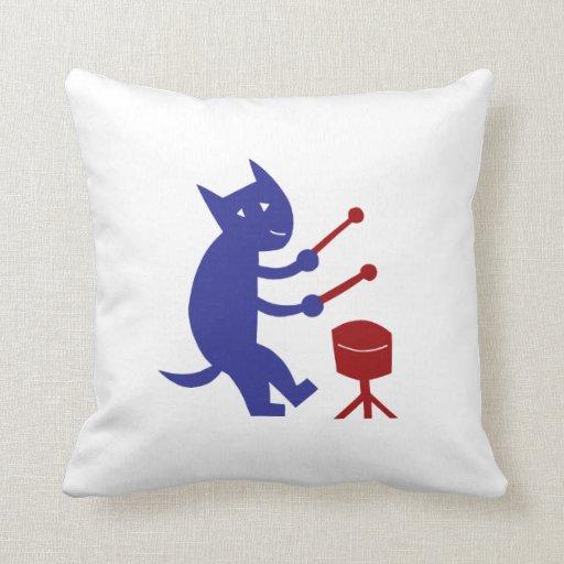 Throw Pillow Zazzle : Playing The Drums Throw Pillow Zazzle