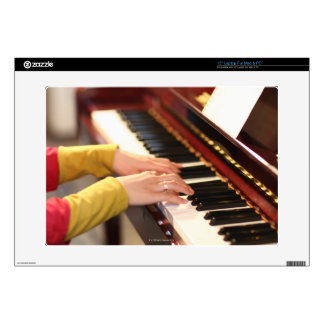"Playing the Piano 15"" Laptop Decal"