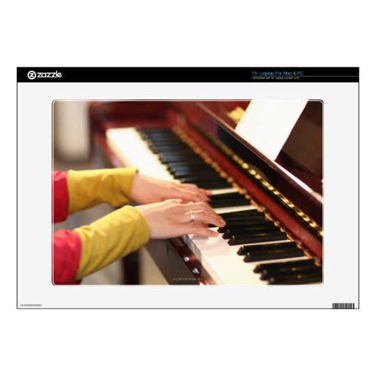 """Playing the Piano 15"""" Laptop Decal"""