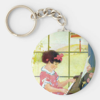 Playing the Piano Keychain