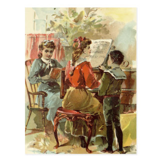 Playing the Piano Postcard