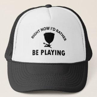 Playing the timpani trucker hat