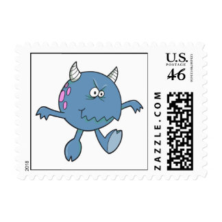playing tough bluish monster friend stamps