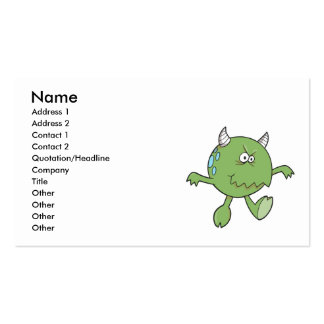 playing tough green monster friend Double-Sided standard business cards (Pack of 100)