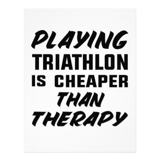 Playing Triathlon is cheaper than therapy Letterhead