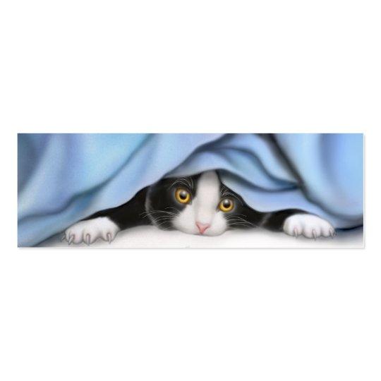 Playing Tuxedo Kitten Bookmark Mini Business Card