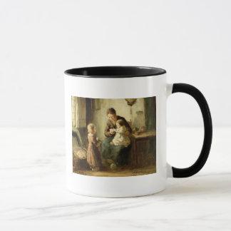 Playing with baby, 19th century mug