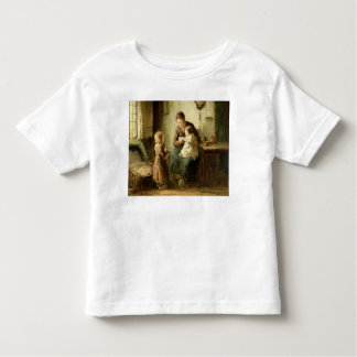 Playing with baby, 19th century toddler t-shirt