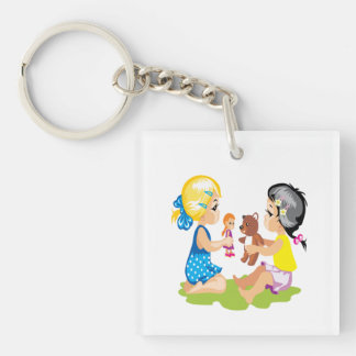 Playing With Dolls Keychain