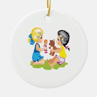 Playing With Dolls Ornament