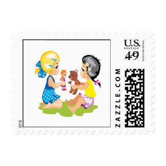 Playing With Dolls Stamp