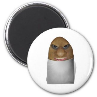Playing With Potatoes - The Potato Nose 2 Inch Round Magnet