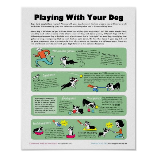 Playing With Your Dog Posters