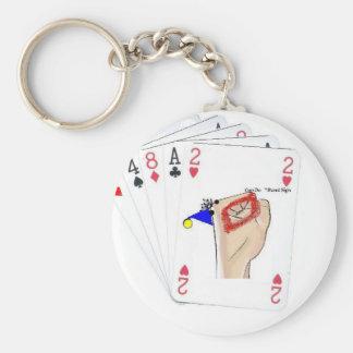 playingcards-cando llavero redondo tipo pin
