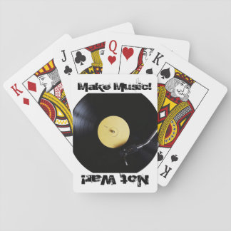 PlayingCards: Make Music, Not War Poker Cards