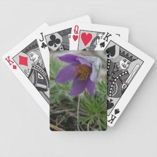 Playingcards púrpuras de los regalos de la flor de barajas de cartas