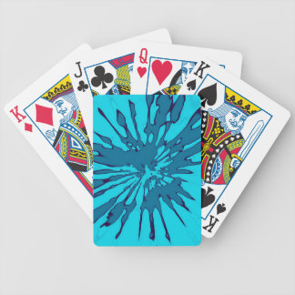 Playingcards with Blue Splash Abstract Design Bicycle Playing Cards