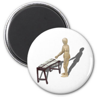 PlayingMarimbas121210 2 Inch Round Magnet