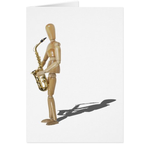 PlayingTheSaxophone020511 Greeting Card