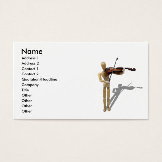 PlayingViolin081210, Name, Address 1, Address 2... Business Card