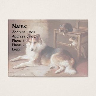 Playmates - Dog Kitten - Puppy Business Card