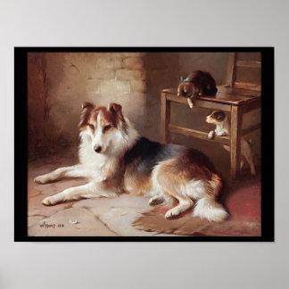 Playmates - Dog Kitten - Puppy Poster