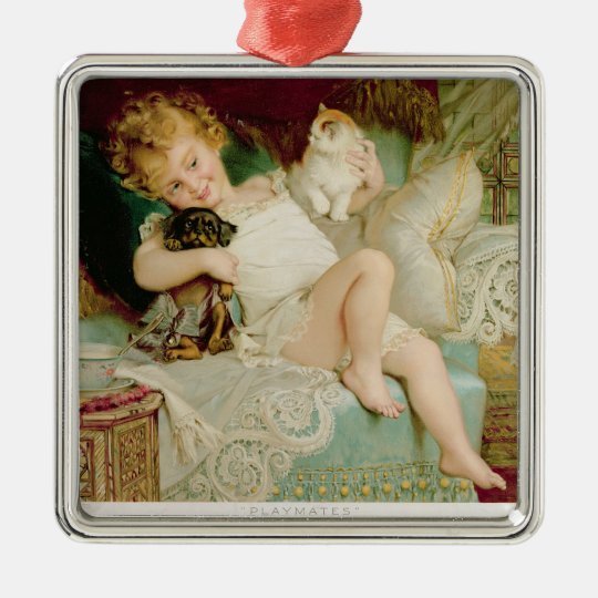 Playmates, from the Pears Annual, 1903 Metal Ornament
