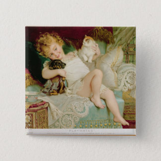 Playmates, from the Pears Annual, 1903 Pinback Button