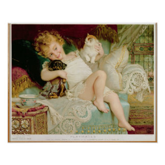 Playmates, from the Pears Annual, 1903 Poster