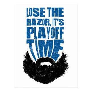 Playoff Beard Lose The Razor Postcard