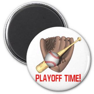 Playoff Time 2 Inch Round Magnet