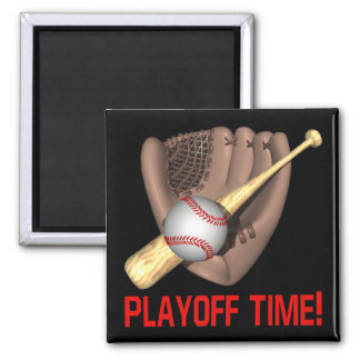 Playoff Time 2 Inch Square Magnet
