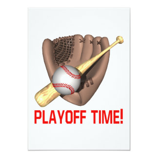 Playoff Time 5x7 Paper Invitation Card
