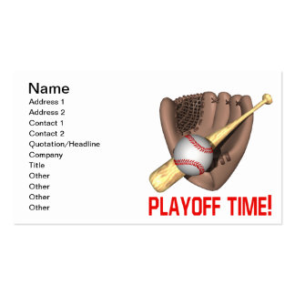Playoff Time Business Card Templates