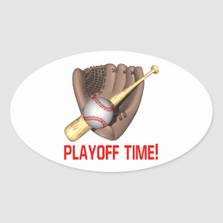Playoff Time Oval Sticker