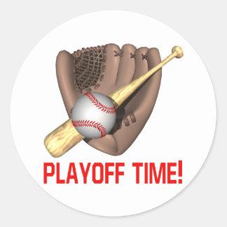 Playoff Time Classic Round Sticker