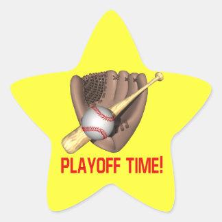 Playoff Time Star Sticker
