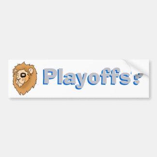 Playoffs? - Detroit   Car Bumper Sticker