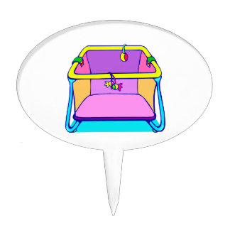 Playpen colorful graphic cake topper