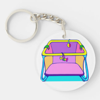 Playpen colorful graphic keychain